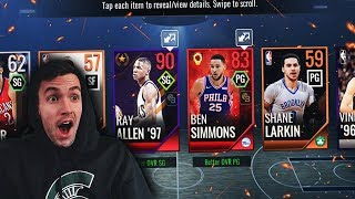 BEST PACKS IN NBA LIVE MOBILE! TOP 10 POWER PACK PULLS