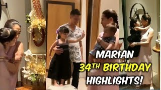 VIDEO MARIAN RIVERA 34th BIRTHDAY CELEBRATION - Baby ZIA BUMIDA ULIT Sobrang CUTE