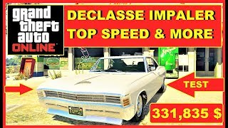 GTA 5 Online , fastest Muscle Cars , Declasse Impaler Top Speed , new car , Arena War