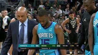 Kemba Walker SCARY Injury   Hornets vs Bucks - January 25, 2019