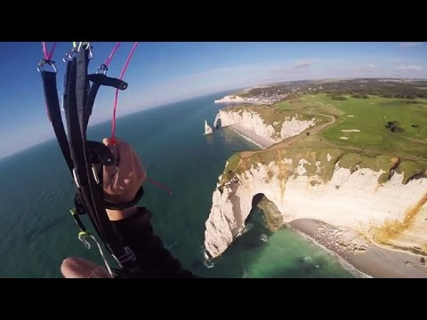 parachutisme etretat