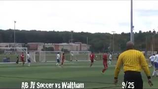 Acton Boxborough Jr Varsity Boys Soccer vs Waltham 9/25/13