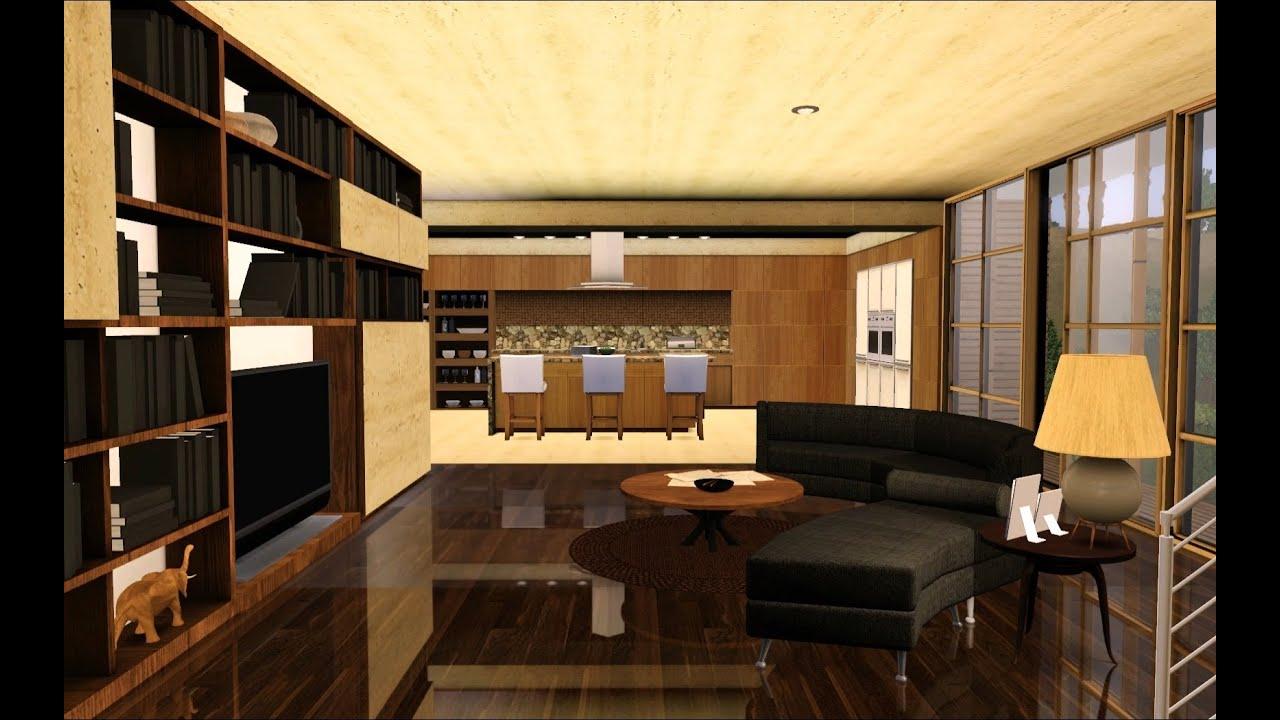 Sims 3 Modern Hollywood house - 1080p slideshow - Youube - ^