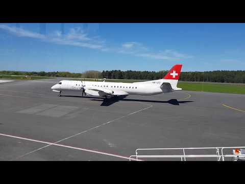 Flughafen Heringsdorf- die Schweizer kommen/  SkyWork Airlines