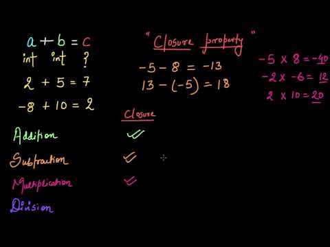 Closure property (Hindi)   Class 7 (India)   Khan Academy