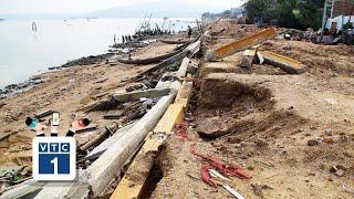 Bình Định: Kè 12 tỷ đồng chưa nghiệm thu đã gãy nát