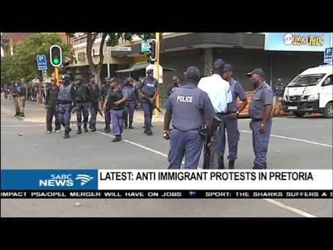 Latest on the stand off between SA's and foreign nationals