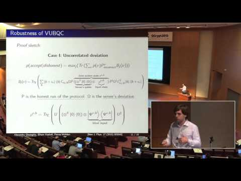 Alexandru Gheorghiu - Robustness and device independence of verifiable blind quantum computing