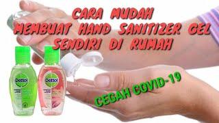 Cara mudah buat anti septik hand sanitizer gel sendiri