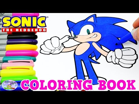 Sonic The Hedgehog Coloring Book Episode Speed Coloring Surprise Egg And Toy Collector Setc