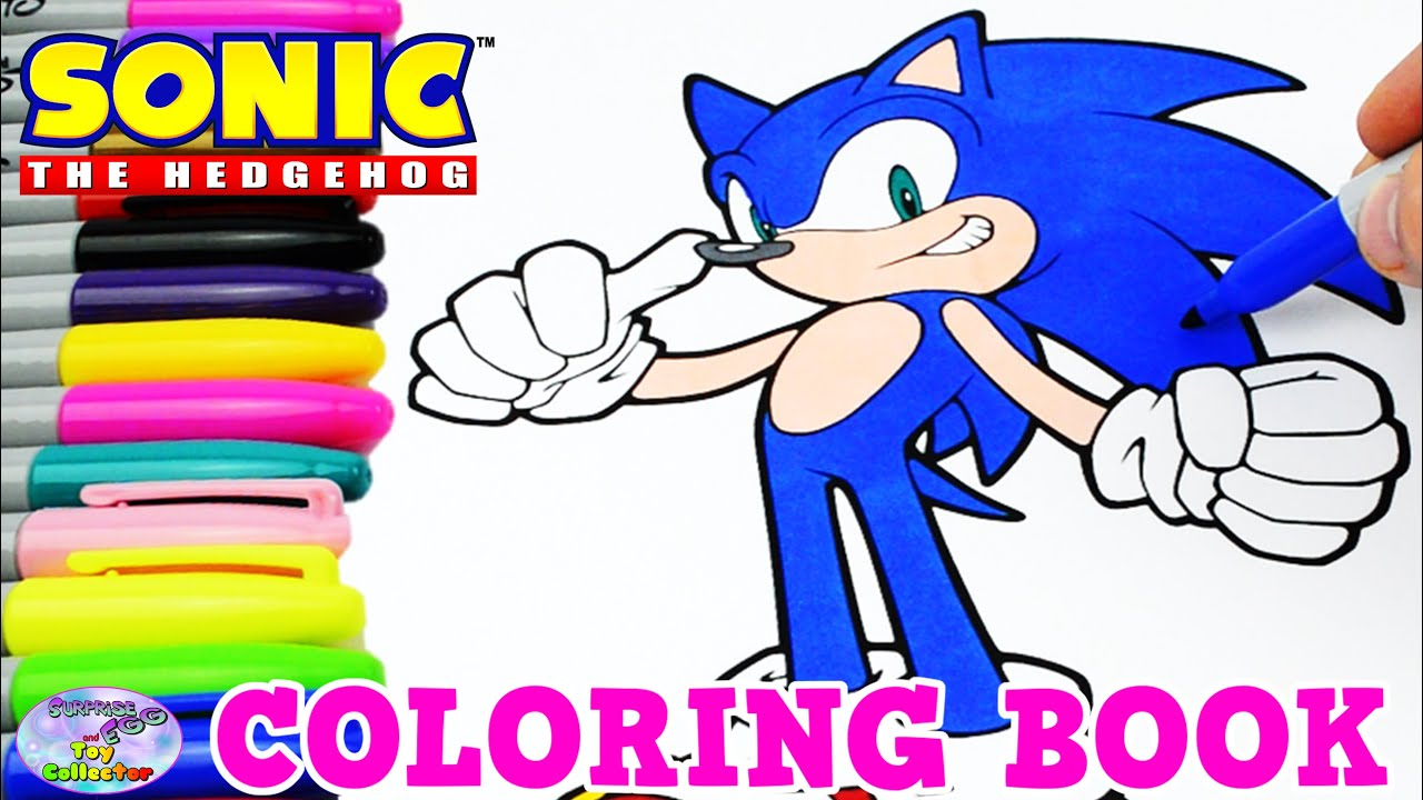 sonic the hedgehog coloring book episode speed coloring surprise
