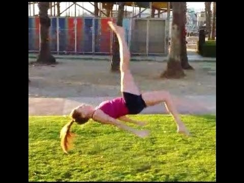 Gymnastics How To Do A Front Aerial To A Sitting Position
