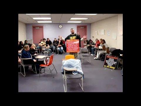 Preacher Preaches IN COLLEGE CLASSROOM! | UNC-Charlotte | Kerrigan Skelly