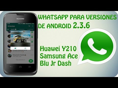 Whatsapp For Android 2.3.6 Huawei Y210  Samsung Ace and Other Models