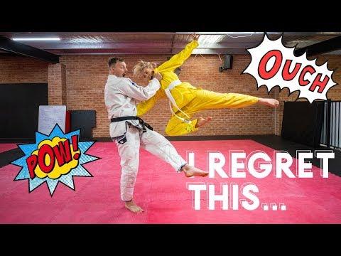 My Black Belt Boyfriend Teaches Me Jiu-Jitsu *HAHAHA*