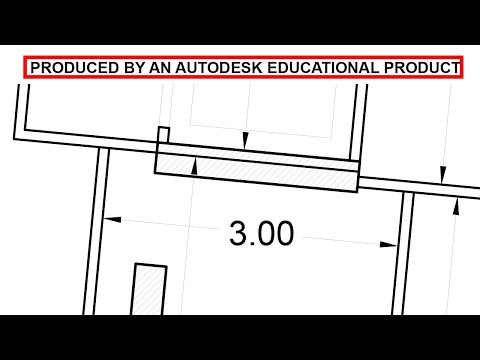 How To Remove Produced By An Autodesk Educational Product In Autocad Student License Youtube