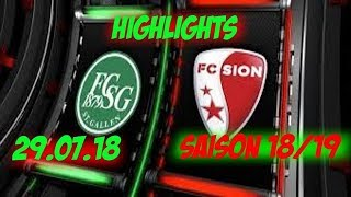 Highlights: Fc St.Gallen vs Fc Sion (29.07.18)