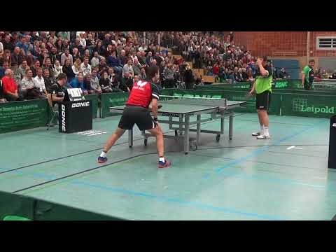 Timo Boll vs Jan   Ove Waldner Leipold Supercup Table Tennis 20171114 Schwabach Stativ  5