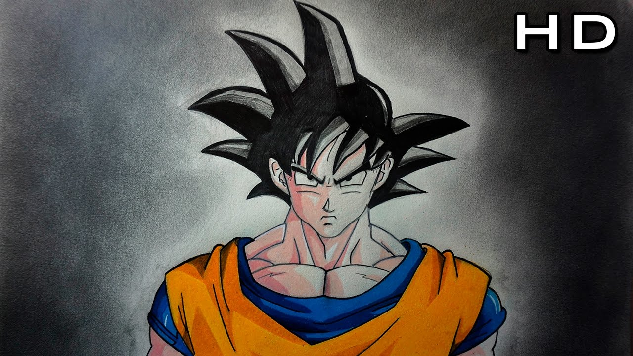 C mo dibujar a goku normal f cil a color paso a paso for Sala facil de dibujar