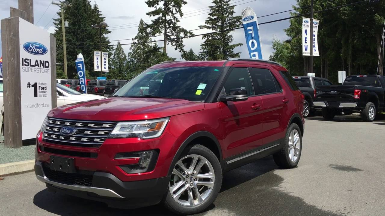 2016 ford explorer 4wd 4dr xlt nav moonroof review island ford