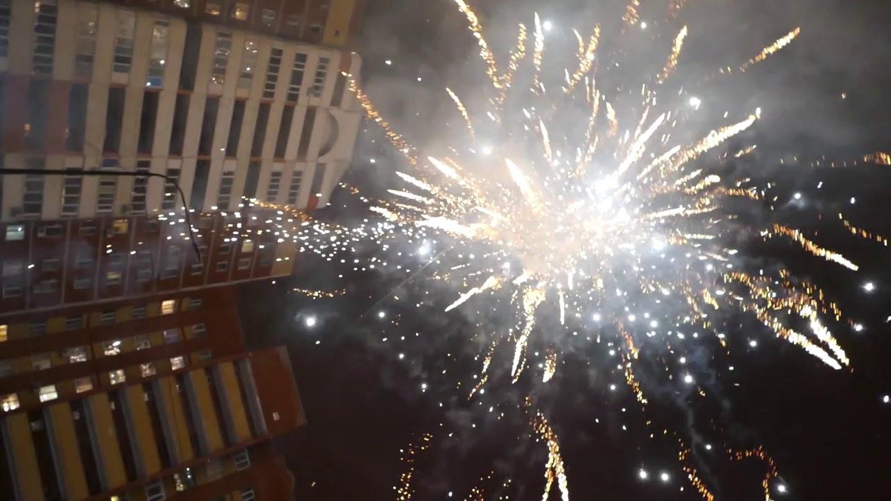 Новый год 2018 фейерверк - YouTube