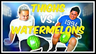GUYS CRUSH WATERMELON WITH THIGHS!! Mp3