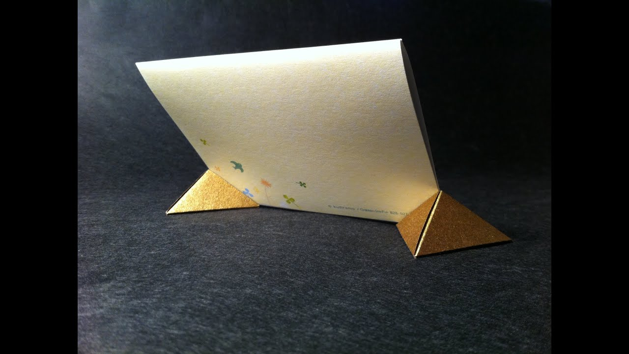 origami picture stand youtube