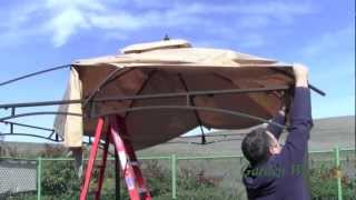 How To Install A Lowe's Allen Roth 10x12 Gazebo Canopy