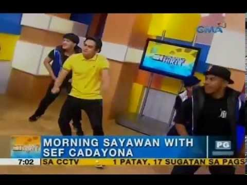 Sef Cadayona heats up the morning with his cool dance moves   Unang Hirit