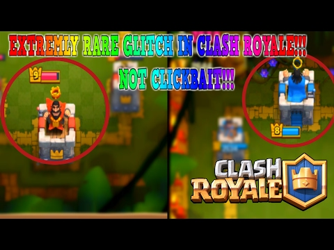 OMG! EXTREMELY RARE GLITCH (NOT CLICKBAIT) Clash Royale | Hacker