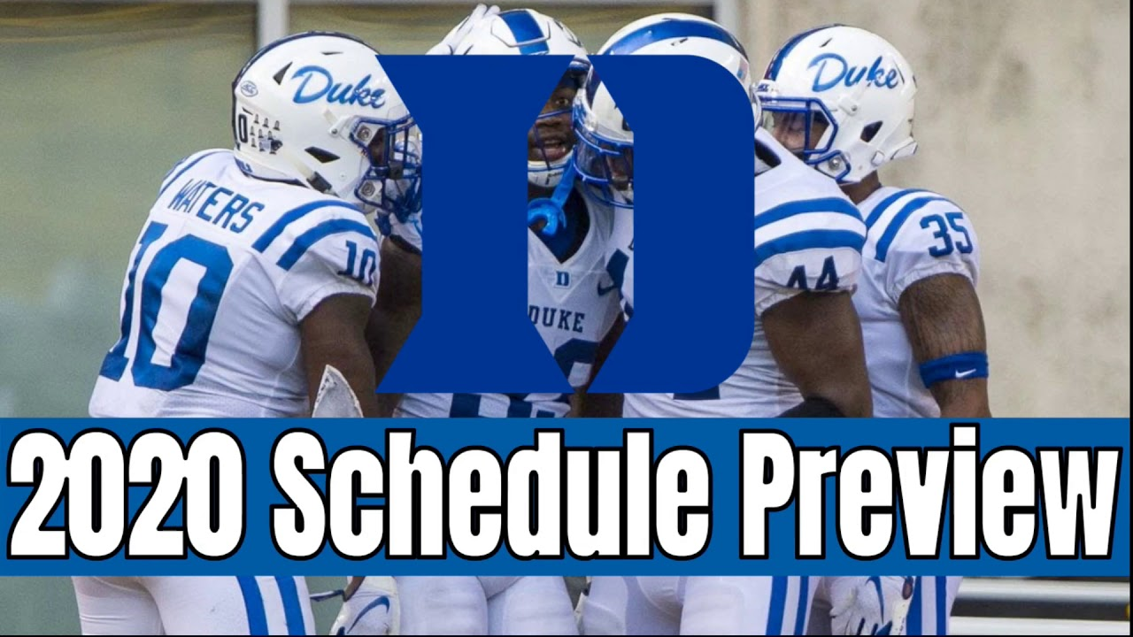 Duke College Football 2020 Schedule Preview And Early Prediction All Sports Central Youtube