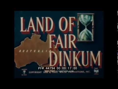 "1940s AUSTRALIA TRAVELOGUE ""LAND OF FAIR DINKUM""  SYDNEY  MELBOURNE 44794"