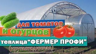 видео: Фермерская теплица для круглогодичного выращивания томатов и огурцов