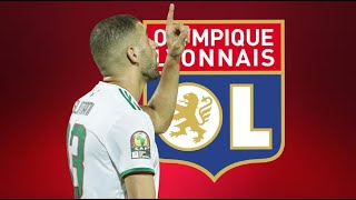 Islam Slimani إسلام سليماني ⚫️  Welcome to Lyon ? 🔴🔵  Best Goals, Skills & Passes