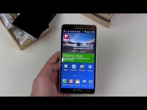 Samsung Galaxy Note 3 einrichten und erster Blick drauf