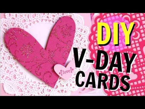 DIY Valentines Day Cards Cheap Easy 2016 YouTube – Make Valentines Day Cards