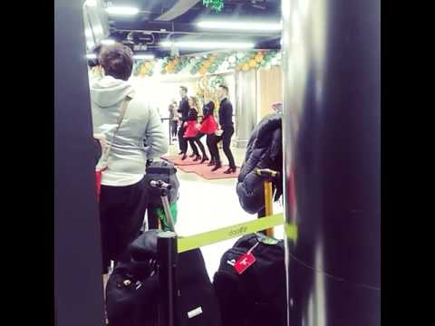 Irish dancing in Dublin airport