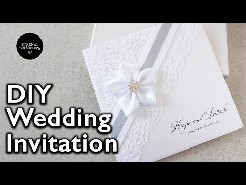 How to make an elegant lace invitation | DIY wedding invitations | Eternal Stationery