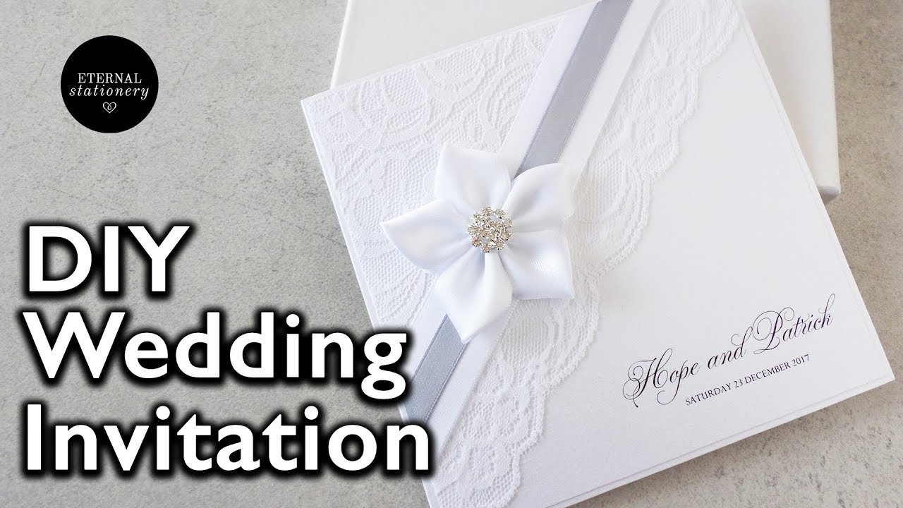 How to make an elegant lace invitation – Diy Wedding Invitations Lace