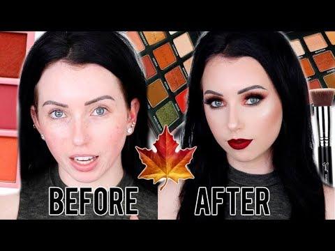 FALL MAKEUP TRANSFORMATION! Full Coverage Fall Makeup Tutorial