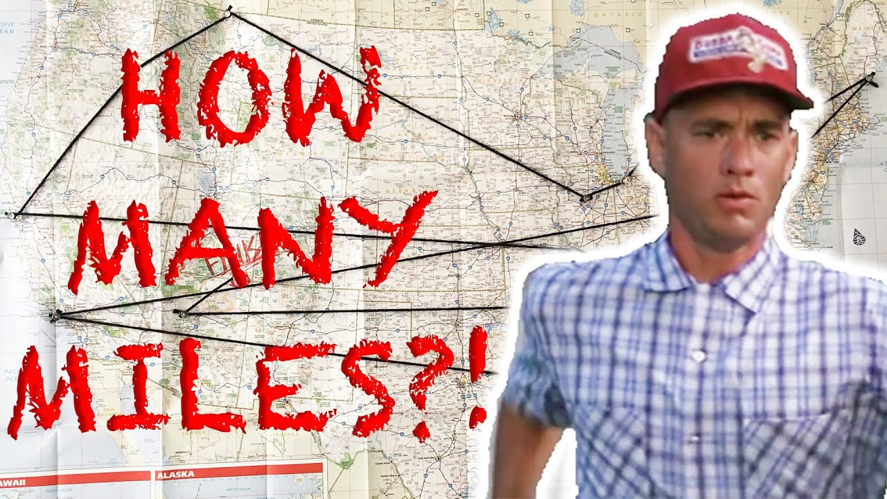 How Far Did Forrest Gump Actually Run YouTube - How far did i run map