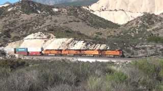 BNSF 7402 Loses a traction motor climbing Cajon near Mormon Rock