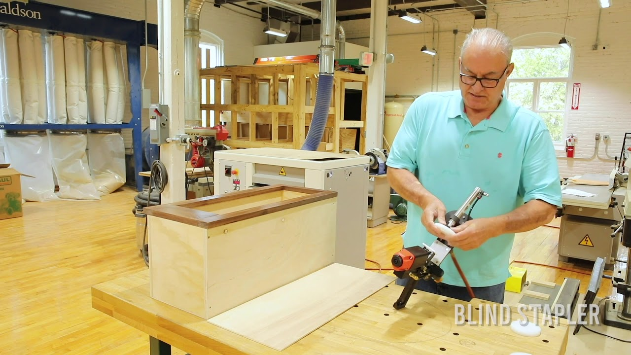 How To Attach A Prefinished Face Frame to Cabinet Box Using BLINDSTAPLER™