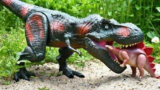 Dinosaur T Rex Puppet vs Spinosaurus Toys Puppets For Kids Tyrannosaurus Rex Attack