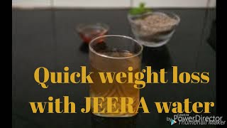 Quick weight loss with jeera water. *BAAT PATE KI*
