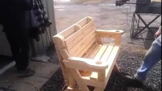 Crazy cool picnic table garden bench