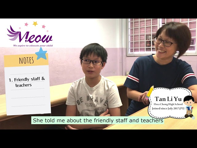 Meow Learning Centre Testimonial - Tan Li Yu (Hwa Chong Institution)