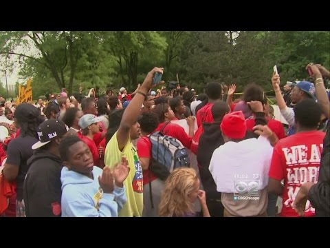 Workers Swarm McDonald's HQ In 'Fight For $15' Rally