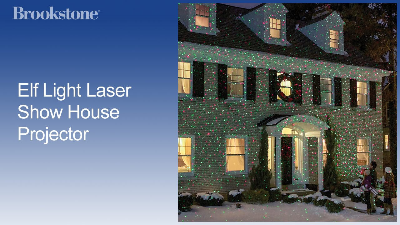 Elf Light Laser Show House Projector - YouTube