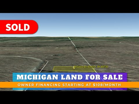 0.44 Acre Residential Vacant Land For Sale Lot 290 Gates Dr Elmira, MI Antrim County